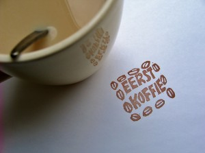 Stempel eerst koffie