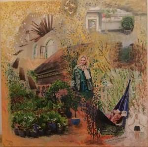 collageschilderij Janneke
