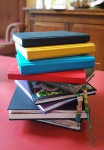 schetsboeken vol