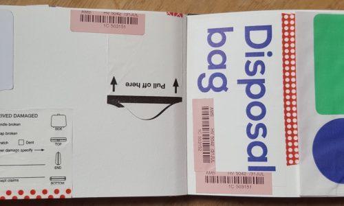disposal bag vliegtuig
