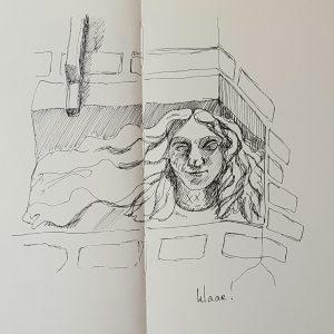 Vrouwenhoofd op de Hoek van de Muurhuizen Amersfoort