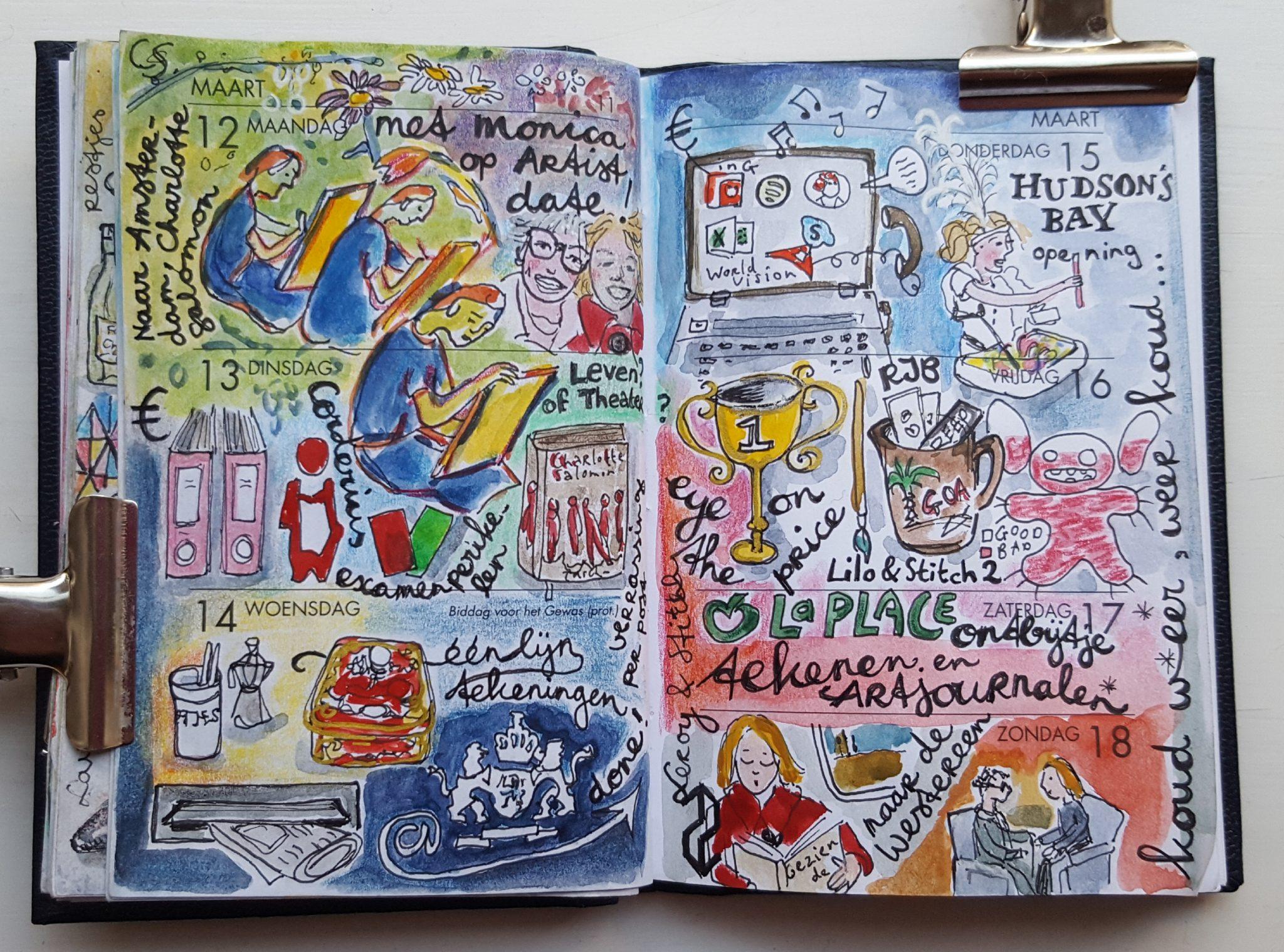 dagboektekenen voorbeeld uit daily diary