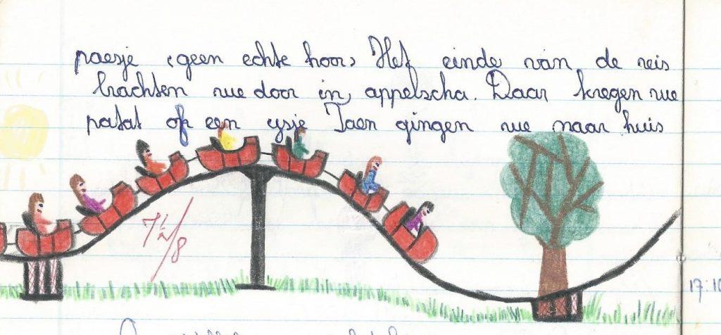 Appelscha schoolreisje tekening bij opstel
